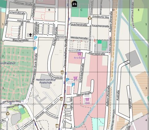 OpenStreetmap Stadtplanausschnitt
