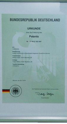 Patentschrift-Timyscout
