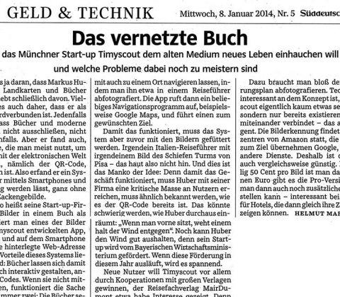 Artikel der Süddeutschen Zeitung zu Timyscout