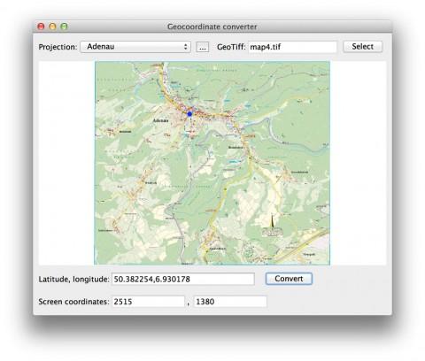 Umrechnung von Bildkoordinaten in Geokoordinaten